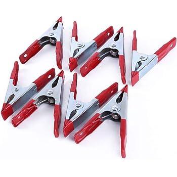 Clips de Resorte para Uso Universal com-four/® 4X Abrazaderas de Resorte de Metal 14.5 x 2.7 cm 08 Piezas - Azul Abrazaderas de Pegamento con Revestimiento de Goma