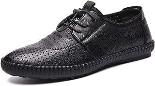 38d7b1cc511 Zapatos de cuero de los hombres Zapatos de negocios Cuero Verano perforado  antideslizante, plano y