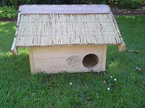 Vogelhaeuser-Raschen Igelhaus mit Reetdach