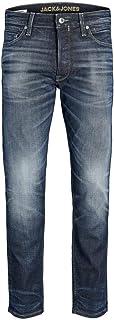 JACK & JONES Men's Jjichris Jjhalo Jj 188 Noos Loose Fit Jeans, Denim Blue, 34W / 32L