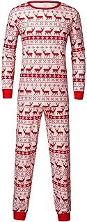 Tronet Matching Family Pajamas Christmas - Overall Deer Print Top T-Shirt + Pants Home Service Suit
