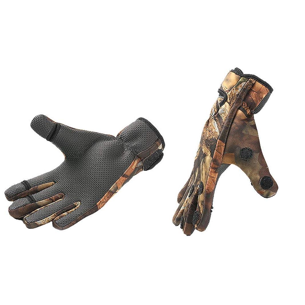 強要わかる電卓フィッシンググローブ 釣り手袋 釣りグローブ 指切り 指3本出す 防寒 手袋 フィッシング グローブ 滑り止め アウトドア ライディング、サイクリング、釣り用