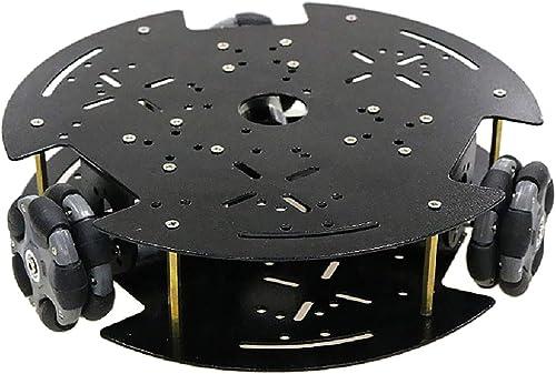FLAMEER Intelligentges Auto Chassis mit Motor Motorhalterung und Schraube Zubeh  DIY Roboter Baukasten - 12V 330 Drehen Sie den Codeless Disc Motor
