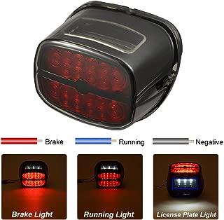 PBYMT LED Tail Light Rear Taillight Brake Turn Signal Light Running Light License Plate Light Compatible for Harley Road King Electra Glide Road Glide FLHX FLHTCUSE 1999-2020 (Black)