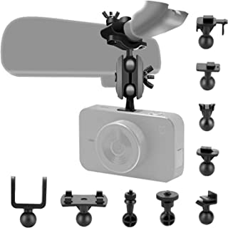"""Dash Cam Mirror Mount Kit with 16 Different Joints Suitable for APEMAN, YI 2.7"""", Vantrue N2 Pro, AUKEY, Rexing V1, Crossto..."""
