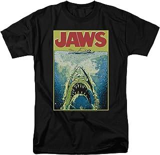 Jaws Movie Poster Retro Vintage Classic Universal Studios Men`s Adult Graphic Tee T-Shirt