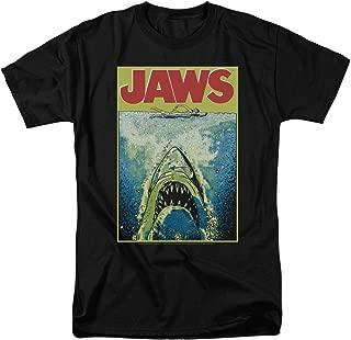 Jaws Movie Poster Retro Vintage Classic Universal Studios Men's Adult Graphic Tee T-Shirt
