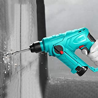 DUYER batteriborr, lätt uppladdningsbar litiumelektrisk hammare, trådlös slagborrmaskin för hem, multifunktionell borrmask...