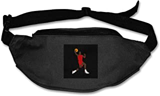Fanny Pack For Women Men Jordan Lay Up Silhouette Waist Bag Pouch Travel Pocket Wallet Bum Bag For Running Cycling Hiking Workout