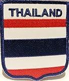 Fahnen Flagge Aufnäher Bügelbilder Patches für Jacken Kleidung Jeans Bekleidung Hosen Aufbügler Patches Aufnäher Applikation zum aufbügeln Thailand 6 x 7 cm