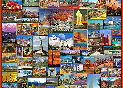 Rompecabezas para adultos 1000 piezaBest locations in the U.S. Rompecabezas clásico familiar adecuado juguetes educativos rompecabezas regalo de bricolaje para adultos y niños desafío (75x50cm)