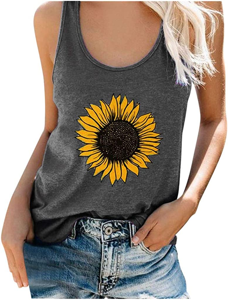 Gerichy Tank Tops for Women, Womens Summer Casual Sleeveless Plus Size Loose Tank Tops Tees Shirts Blouses Tunics