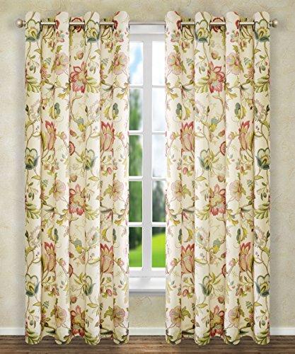 Ellis Curtain Brissac Grommet Panel, 50 x 84, Red