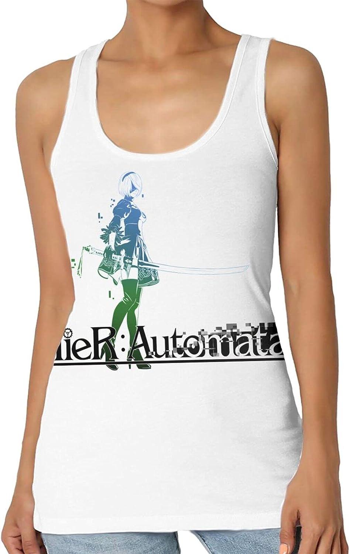 IOHAGA Nie-RAutomata Women's Sexy Fashion Tank top,Sports Fitness Running Sleeveless Vest