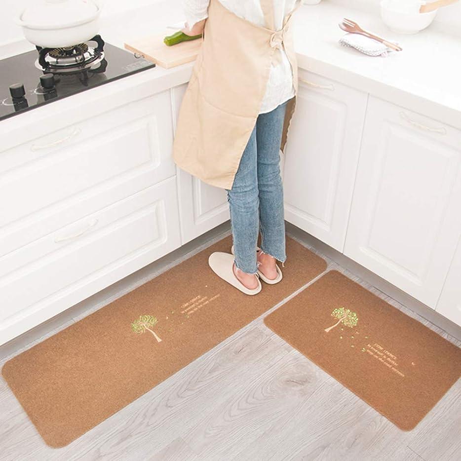 リールデータベース刈る吸収 2個 キッチンラグ,抗疲労 キッチンマット TPR ノンスリップ キッチンフロアマット ランナーラグ,洗える パッド マット カーペット