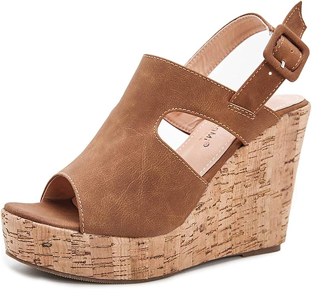 Dreamcia Women Sexy Peep Toe Sling Casual Sandals Wedge Platform Cheap SALE Ranking TOP5 Start