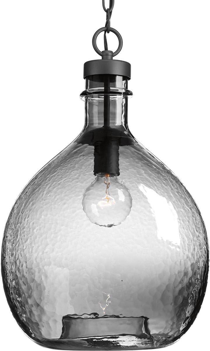 Progress Lighting P500064-143 Zin One-Light Pendant Luxury Black Limited time sale