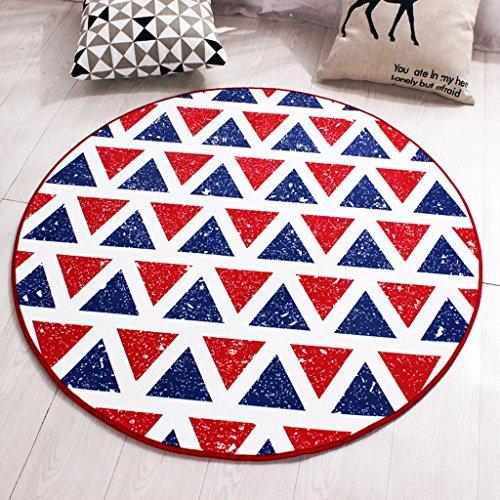 Good thing tapis Tapis rond anti-dérapant Tapis rouge créatif de tapis d'ordinateur Tapis de chevet de tapis de berceau d'ordinateur portable, imperméable à l'eau (taille : Diameter 140cm)