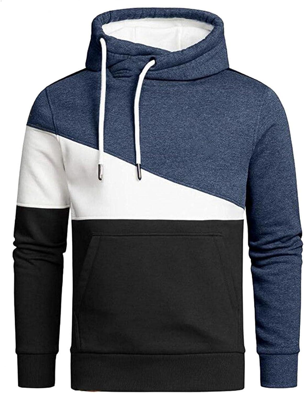 Men's Hoodie Color Luxury goods Matching Athletic Draw shopping Sweatshirt Long Sleeve