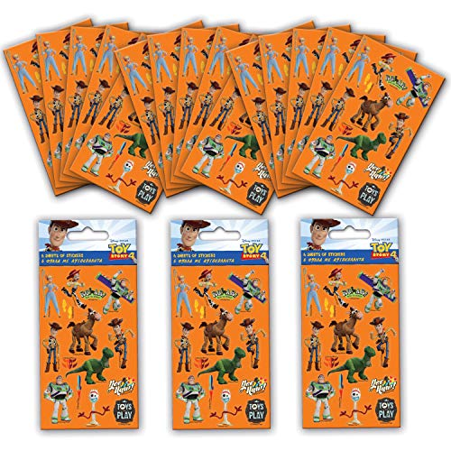 Paper Projects 01.70.24.048 Toy Story 4 Party Sticker Bundle (18 Sheets)
