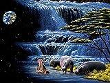 Puzzle 1000 Piezas Puzzle hipopótamo Puzzle de Madera de 1000 Piezas Juguetes educativos de Entretenimiento Familiar para Adultos y niños 75cm*50cm JuZi