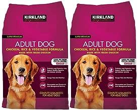 Bulkidoki Kirkland Signature Adult Formula Chicken, Rice and Vegetable Dog Food 40 lb. (Pack of 2)
