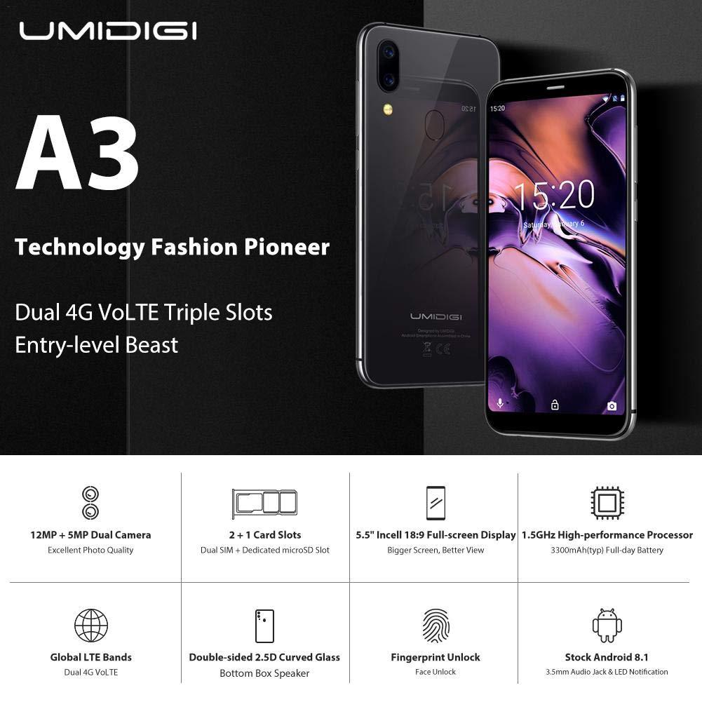 Leo565Tom UMIDIGI A3 Smartphones Libres Diseño Moderno: Amazon.es: Electrónica