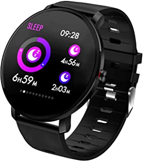Smart Watch IP68 Full Touch Screen Fitness Tracker Heart Rate Monitor Blood Pressure Sleep Monitor Activity Tracker Bluetooth