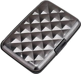 Elfish RFID Blocking Credit Card Protector Aluminum ID Case Hard Shell Business Card Holders Metal Wallet for Men or Women...