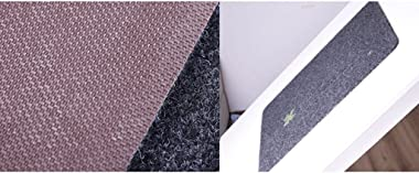 Blue Rectangular Non-Slip Suction Bedroom Mats (Color : 40 * 60CM)