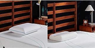 Tempur-Pedic TEMPUR-Cloud Breeze Dual Cooling Pillow, King & TEMPUR-Ergo Neck Pillow Firm Support, Large Profile, White
