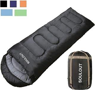 SOU LOUT 寝袋 シュラフ 封筒型 コンパクト オールシーズン 丸洗い 連結可能 防水 アウトドア キャンプ 登山 防災 使用温度0~25度 軽量 夏用 冬用 収納袋付き1.9kg