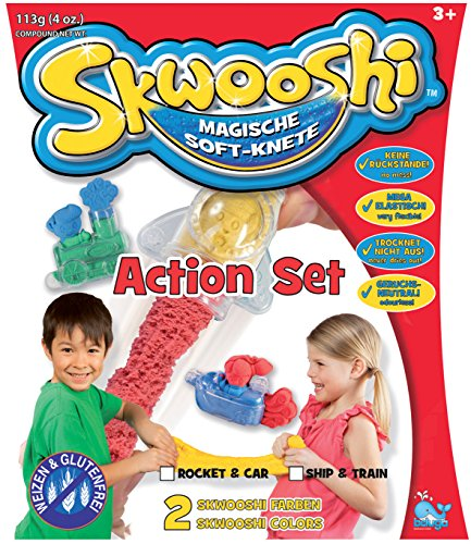 Skwooshi magische Soft Knete Action Set Rakete und Auto