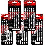 TopsTools JSTTX344D_5 T344D - Juego de 25 hojas de sierra de calar (132 mm, 132 mm, compatibles con Bosch Dewalt Makita Milwaukee y muchos más