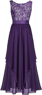 iiniim Women's Lace Chiffon V-Back Party Bridesmaid Formal Long Evening Dress