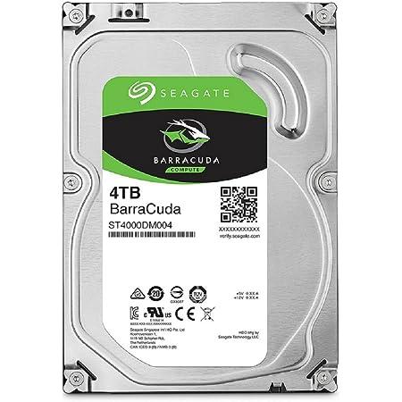 "【Amazon.co.jp限定】Seagate BarraCuda 3.5"" 4TB 内蔵ハードディスク HDD 2年保証 6Gb/s 256MB 5400rpm 正規代理店品 ST4000DM004"