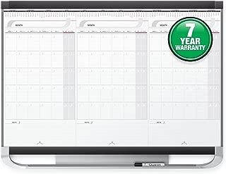 Quartet Prestige 2 Sliding Three Month Calendar Board, 3 x 2 Feet, Total Erase Surface (CMP32P2)