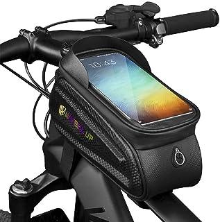 Belita Amy Bike Handlebar Bags Waterproof Bicycle Phone Front Frame Bag Cycling Top Tube Pannier Bag with Touch Screen Sun...