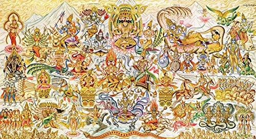 Hindu Gods Poster, Hinduism, Deities, Shiva, Krishna, Vishnu, Ganesha