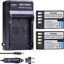 Batmax 2Pcs D-Li109 Battery + DC Charger for Pentax D-LI109 Pentax K-R K-30 K-50 K-500 KR K30 K50 K500 K-S1 K-S2 K-70 Camera Batteries