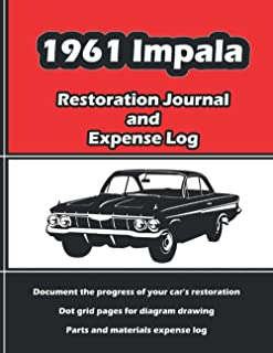 1961 IMPALA - Restoration Journal and Expense Log: Vintage car restorers and collectors love documentation. Keep accurate ...
