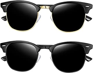 Joopin Semi Rimless Polarized Sunglasses Women Men Retro...