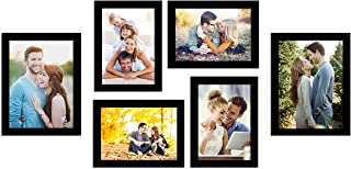 Art Street Photo Frame Wall Set of 6 Black Picture Frame For Home and Office Decoration Size -5x7, 6x8 Inches Eco Series (...
