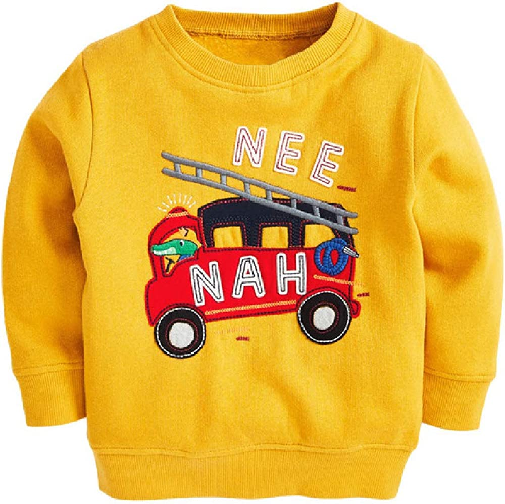 Quenny Antumn and Winter New Boys' Sweaters,Knitted Round Neck Long-Sleeved Fleece Sweaters.