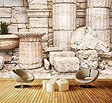 dalinda Premium Vliestapete alte griechische säulen Fototapete DA00000825 XXL 400 x 280 cm - 8 Teile - Vlies Vliestapete XXL