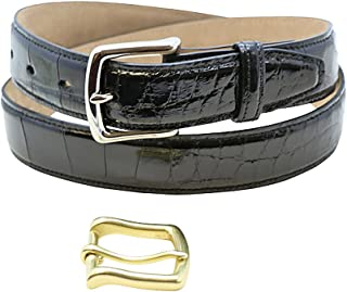 Made in the USA - Genuine Alligator Belts - Gold and Silver Buckle – 1 ¼ inch Wide - Real Leather Creations