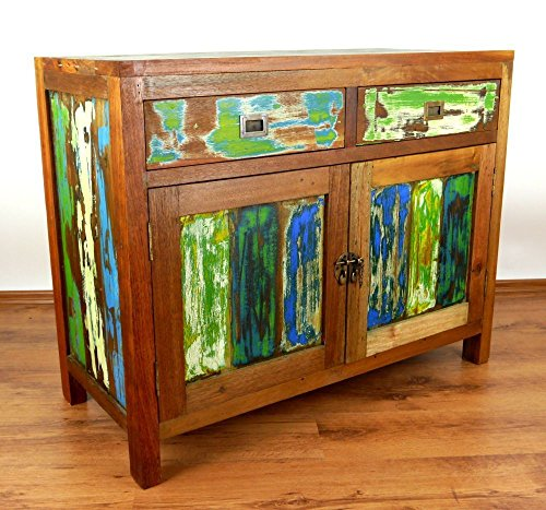 Teak houten kast, ladekast, dressoir van teruggewonnen/gerecycled hout.