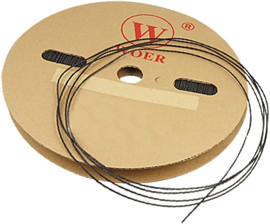 X-DREE 200M Length 1mm Dia Heat Shrinkable Tube famous Black Shrink Great interest Tub