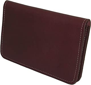 Leather Top Stub Checkbook Cover, Burgundy
