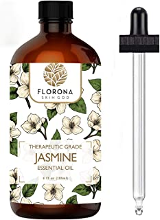 Sponsored Ad - Jasmine Essential Oil 4 Oz - 100% Pure and Natural for Hair Skin Diffuser Therapy Home Fragrance Acetite La...